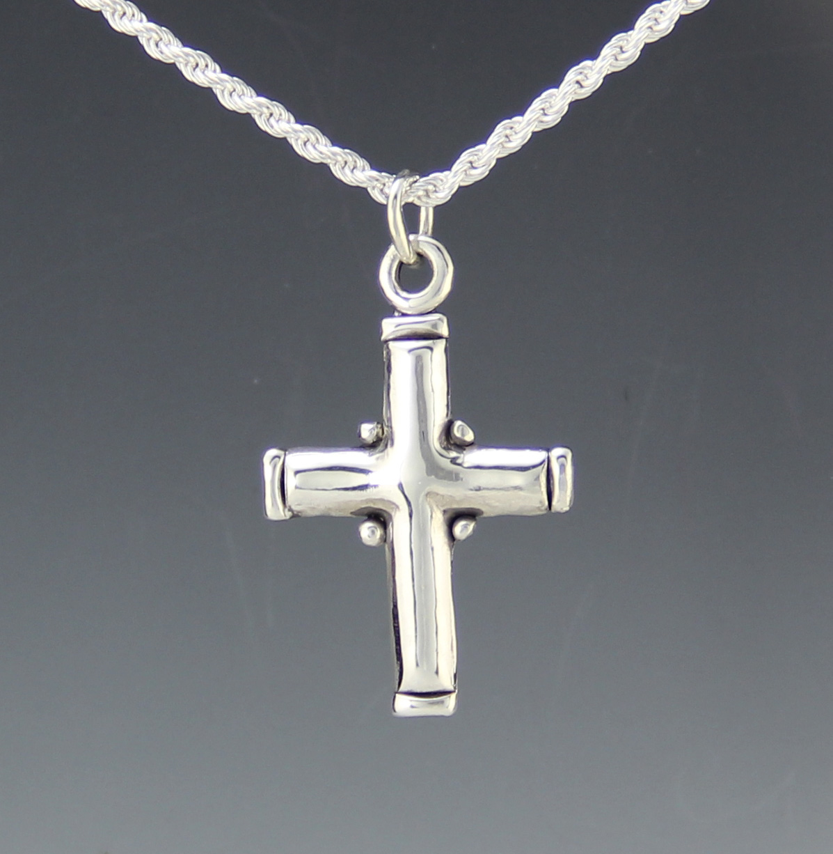 Sterling silver plain cross necklace silver mens cross denim and sterling silver plain cross necklace silver mens cross mozeypictures Image collections