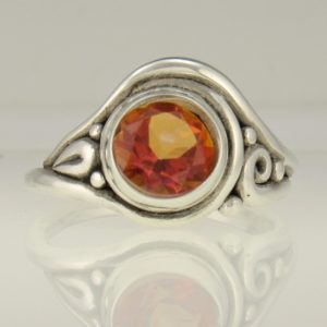 Sterling Silver 9x7 mm Garnet Ring Handmade One of a Kind Artisan Ring Made in the USA with Free Domestic Shipping